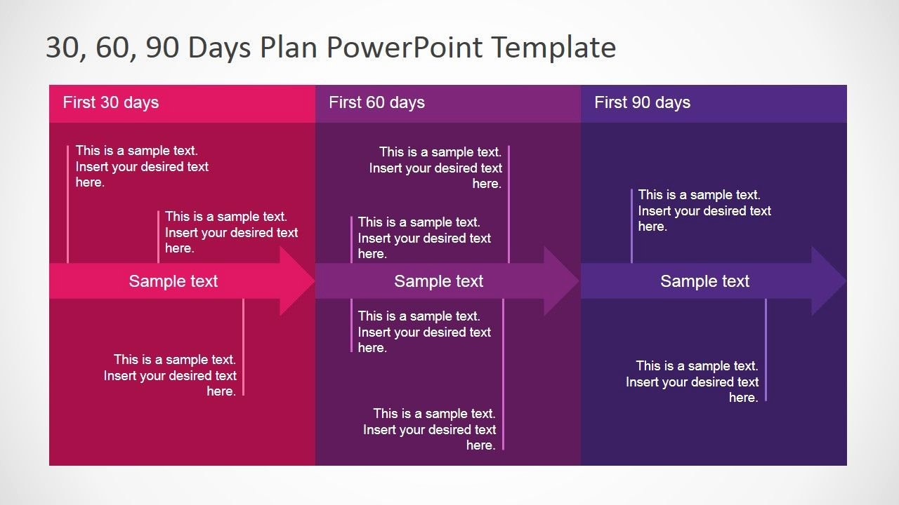 90 Day Planner Template Elegant 30 60 90 Days Plan Powerpoint Template Work Stuff