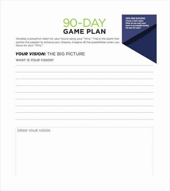 90 Day Planner Template Inspirational 28 30 60 90 Day Plan Samples In Google Docs