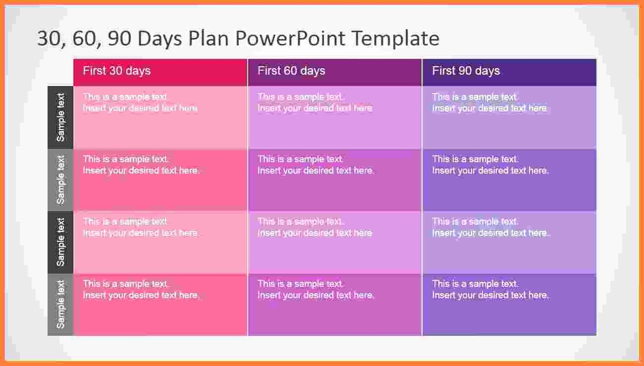 90 Day Planner Template Inspirational 3 90 Day Plan Template