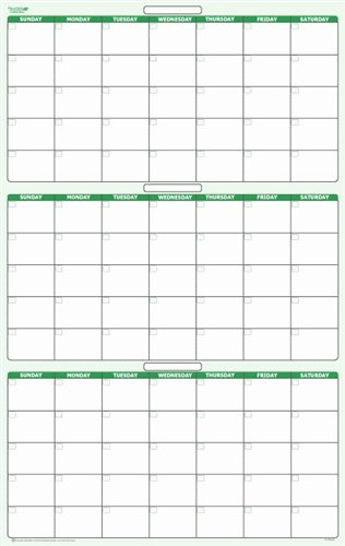 "90 Day Planner Template Inspirational 90 Day 3 Month Dry Erasable Wall Calendar 24"" X 38"""