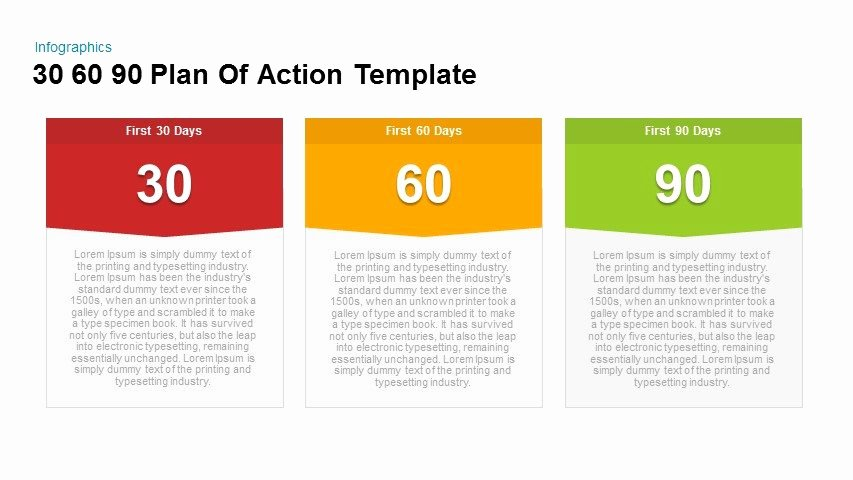 90 Day Planner Template Luxury 30 60 90 Plan Action Powerpoint and Keynote Template