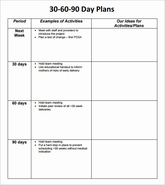 90 Day Planner Template New 30 60 90 Day Plan Template 8 Free Download Documents In Pdf
