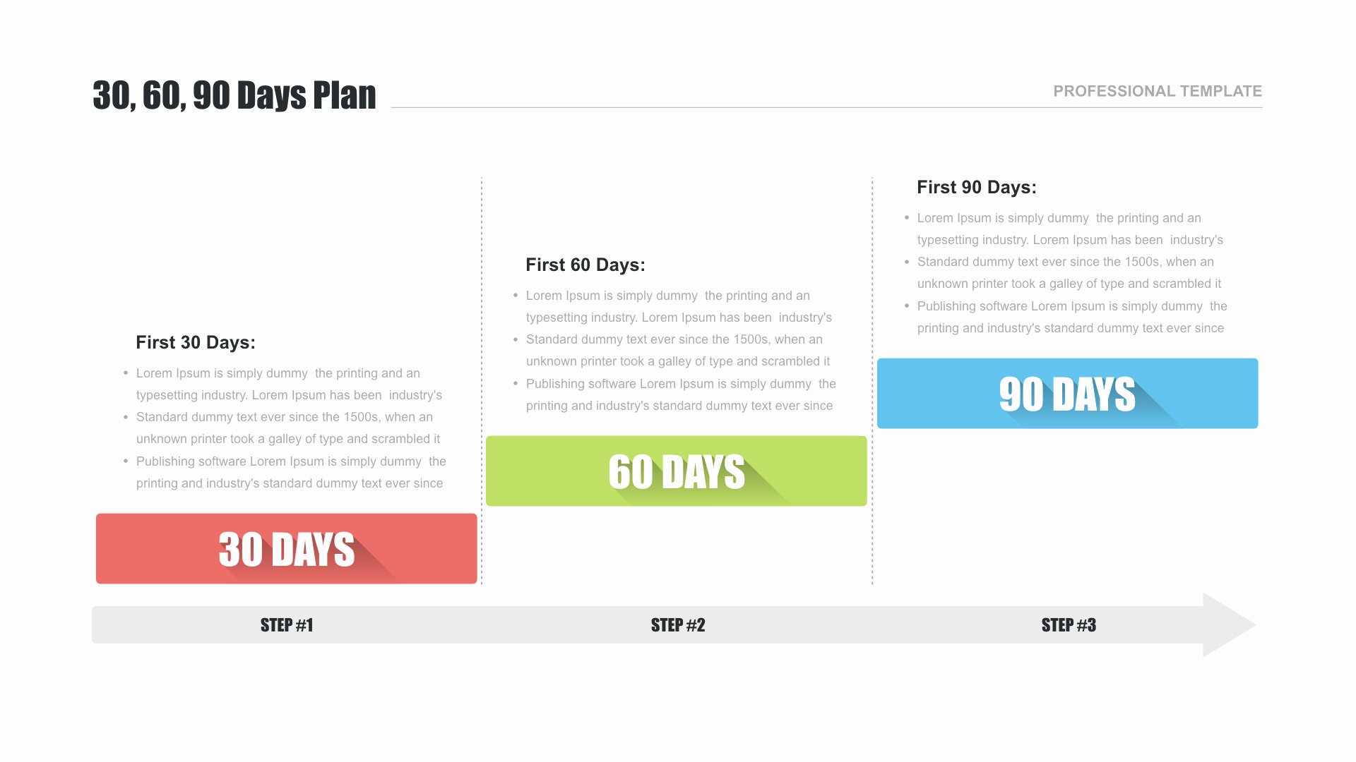 90 Day Planner Template New 30 60 90 Day Plan Template for Google Slides Free
