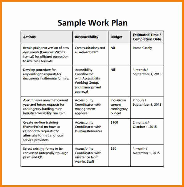 90 Day Work Plan Template Beautiful 6 Work Plan Examples