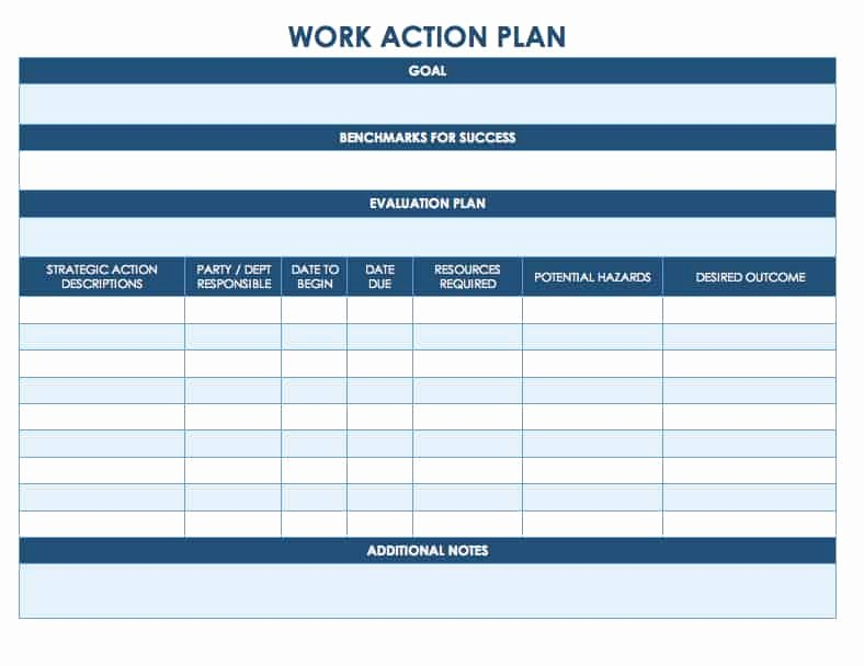 Academic Success Plan Template Fresh Free Action Plan Templates Smartsheet