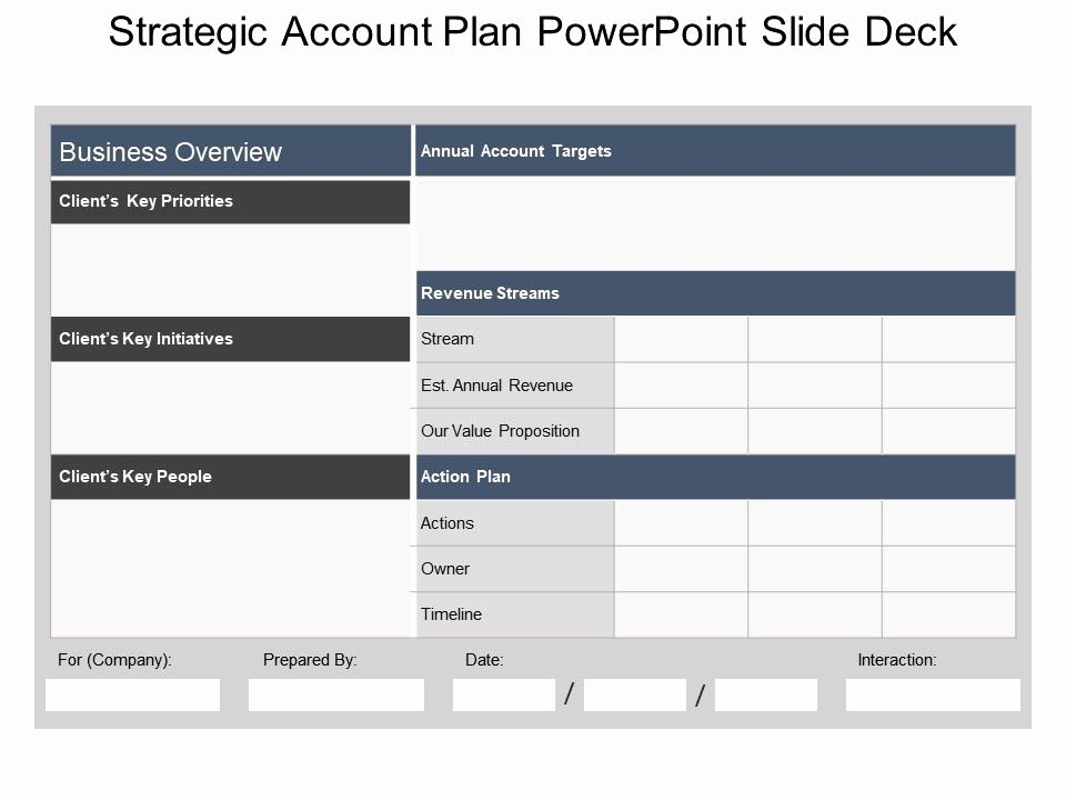 Account Management Plan Template Awesome Strategic Account Plan Powerpoint Slide Deck