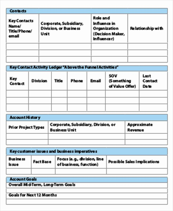 Account Management Plan Template Best Of 49 Strategic Plan Templates Pdf Word