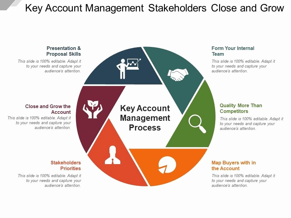 Account Plan Template Ppt Awesome Key Account Management Stakeholders Close and Grow