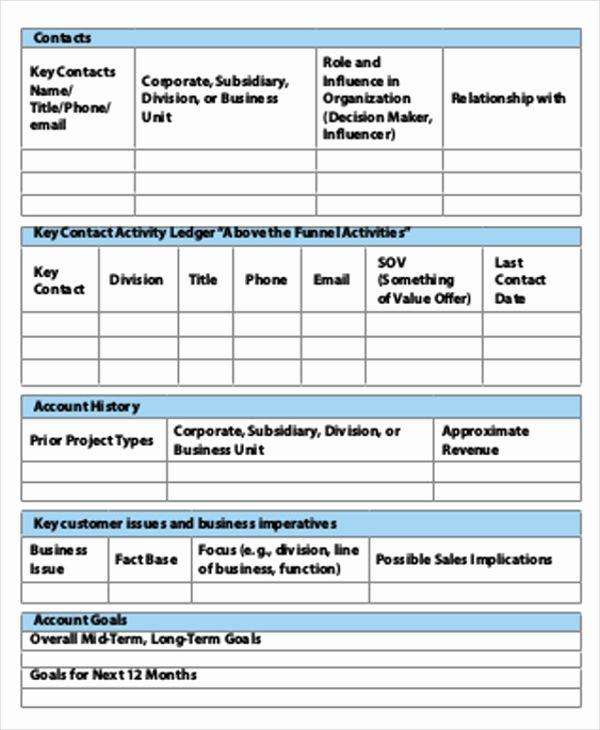 Account Plan Template Ppt Inspirational Account Plan Template Sample Account Plan Template – soohongp