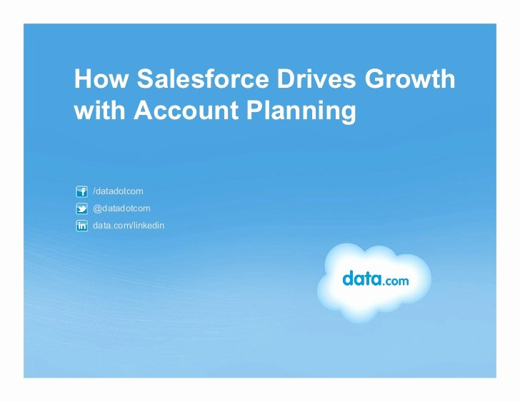 Account Plan Template Ppt Unique How Salesforce Drives Growth with Account Planning