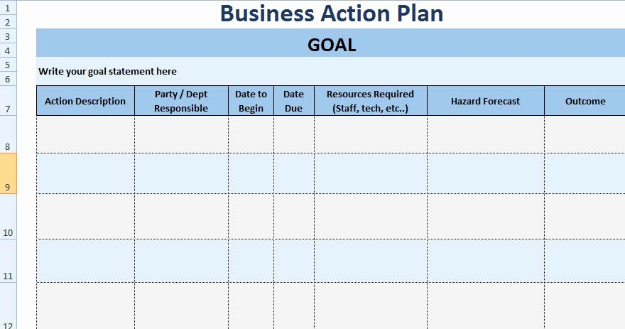 Action Plan Template Excel Awesome 3 Free Project Action Plan Template Xls Free Excel