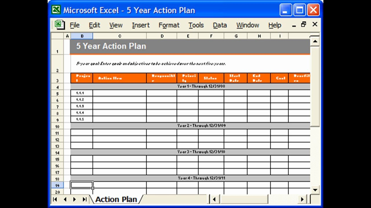 Action Plan Template Excel Awesome Action Plan Template Excel