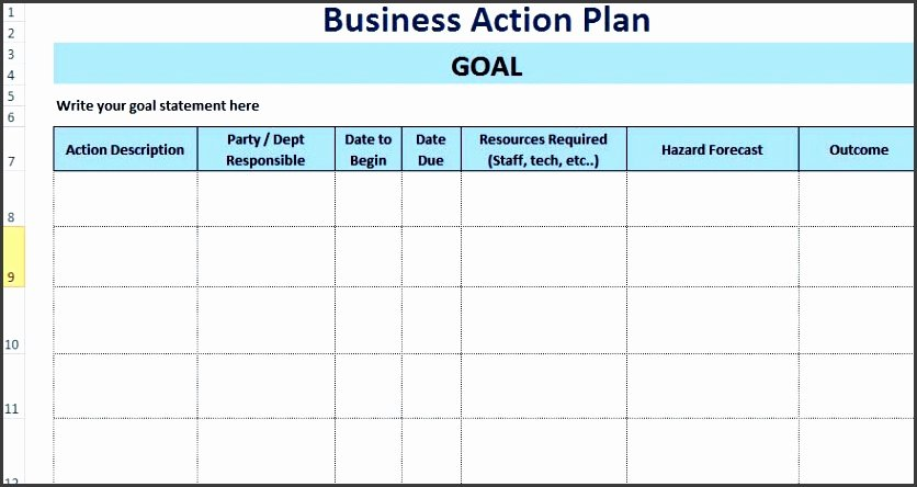 Action Plan Template Excel Beautiful 7 Free Action Plan Templates Sampletemplatess