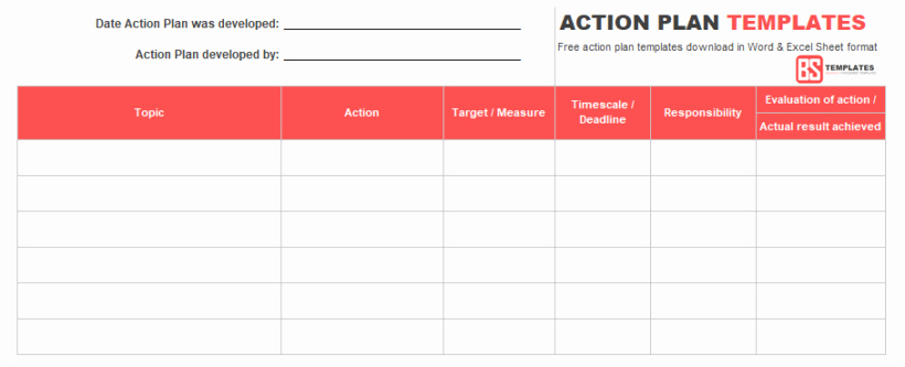 Action Plan Template Excel Best Of Action Plan Templates – Free Templates [word