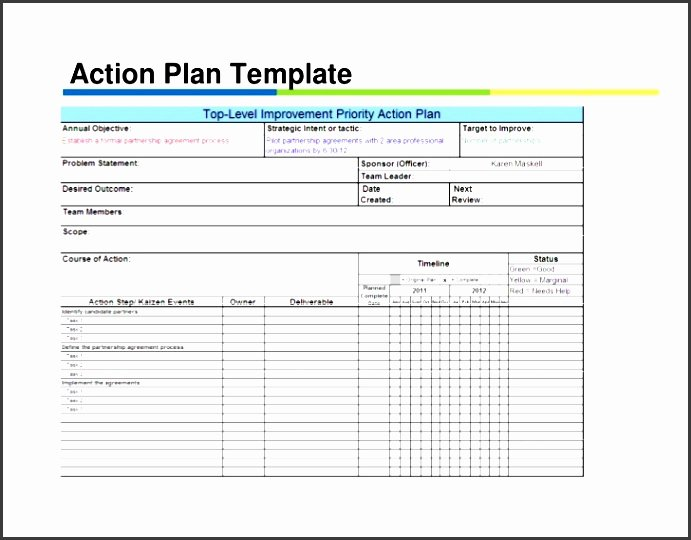 Action Plan Template Excel Elegant 5 Action Plan for Employees Sampletemplatess