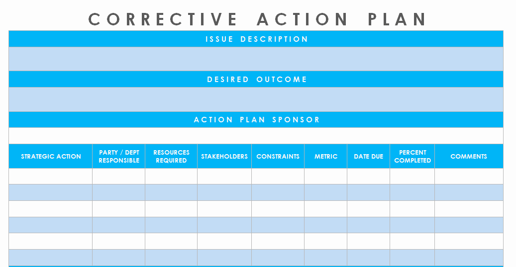 Action Plan Template Excel Fresh Get Corrective Action Plan Template Excel – Microsoft