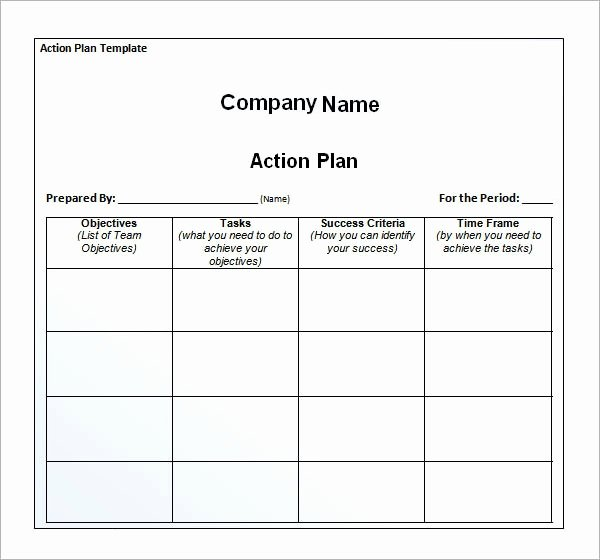 Action Plan Template Excel Inspirational Sample Action Plan Template 9 Free Documents In Pdf
