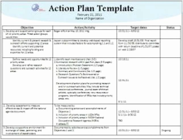 Action Plan Template Excel Luxury 8 Action Plan Templates Excel Pdf formats