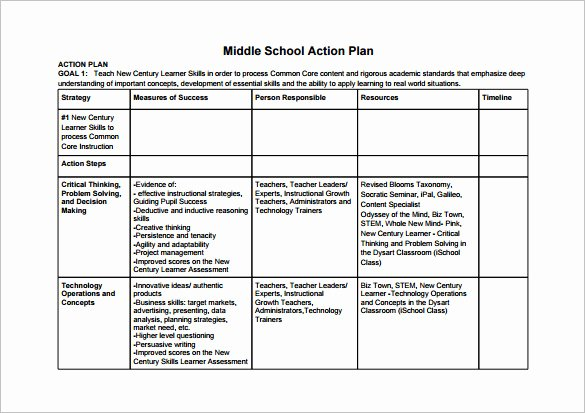 Action Plan Template for Students Awesome 12 School Action Plan Templates Word Pdf