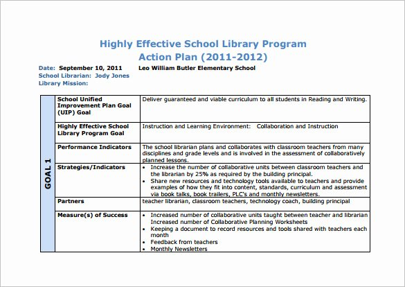 Action Plan Template for Students Beautiful 12 School Action Plan Templates Word Pdf