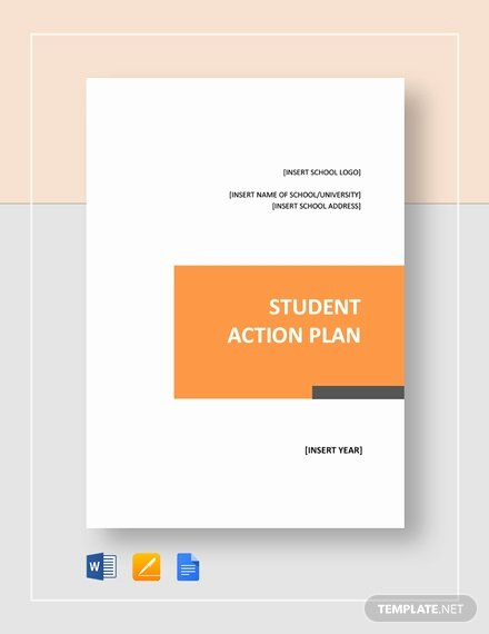 Action Plan Template for Students Best Of Student Action Plan Template Word Google Docs