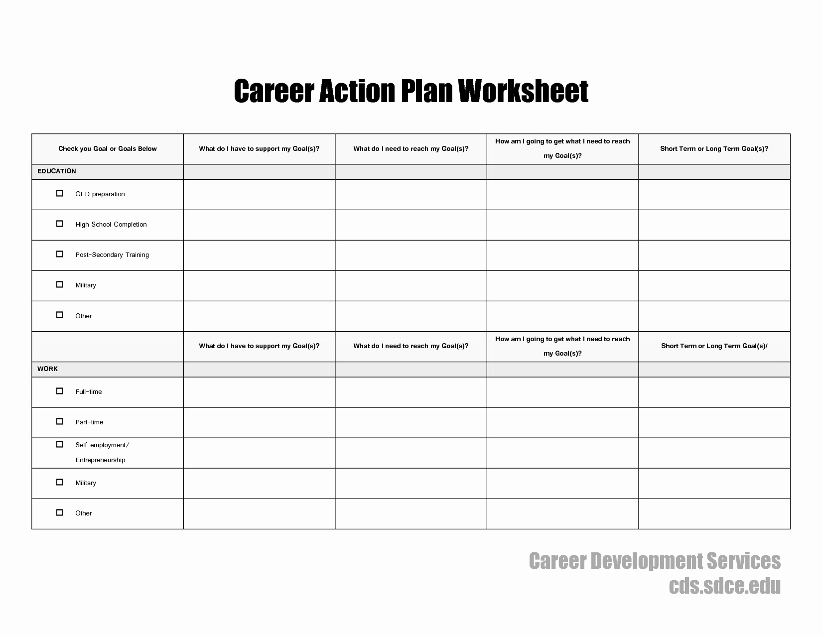 Action Plan Template for Students Lovely 17 Best Of Career Planning In College Psychology