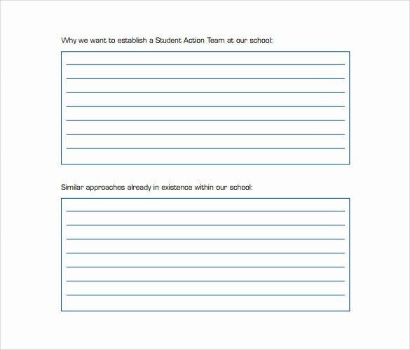 Action Plan Template for Students Lovely 8 Sample School Action Plans Word Pdf