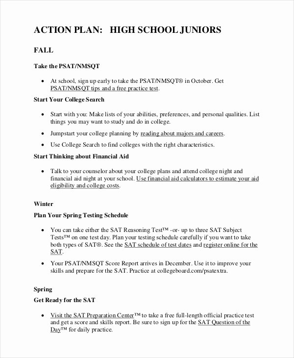 Action Plan Template for Students Lovely Student Action Plan Template 9 Free Word Pdf format