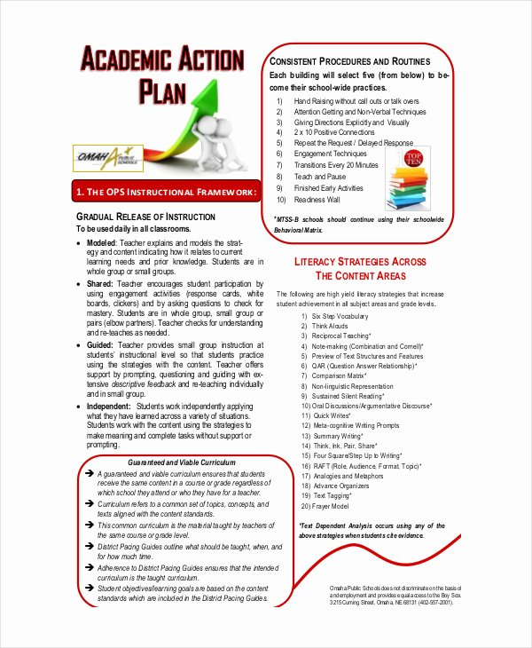 Action Plan Template for Students Unique Student Action Plan Template 9 Free Word Pdf format