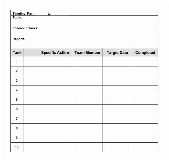 Action Planning Template Excel Awesome Free 15 Sample Action Plans In Google Docs