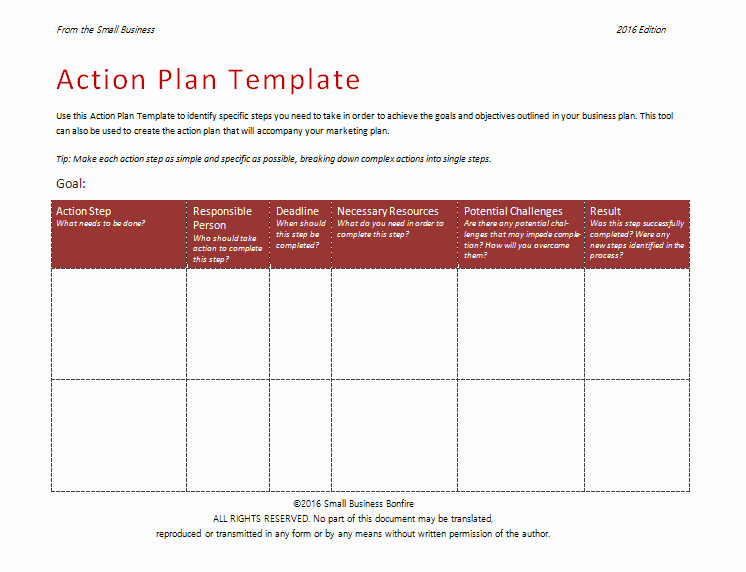 Action Planning Template Excel Unique 58 Free Action Plan Templates & Samples An Easy Way to
