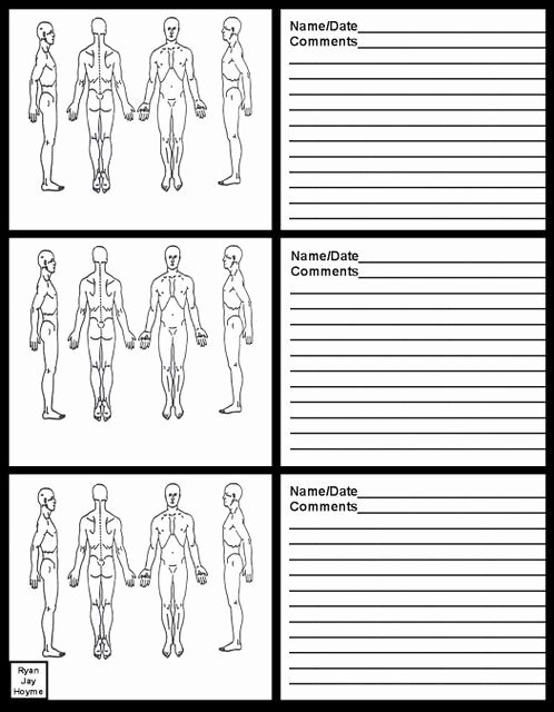 Acupuncture Intake form Template Elegant Massage therapy soap Note Charts Business