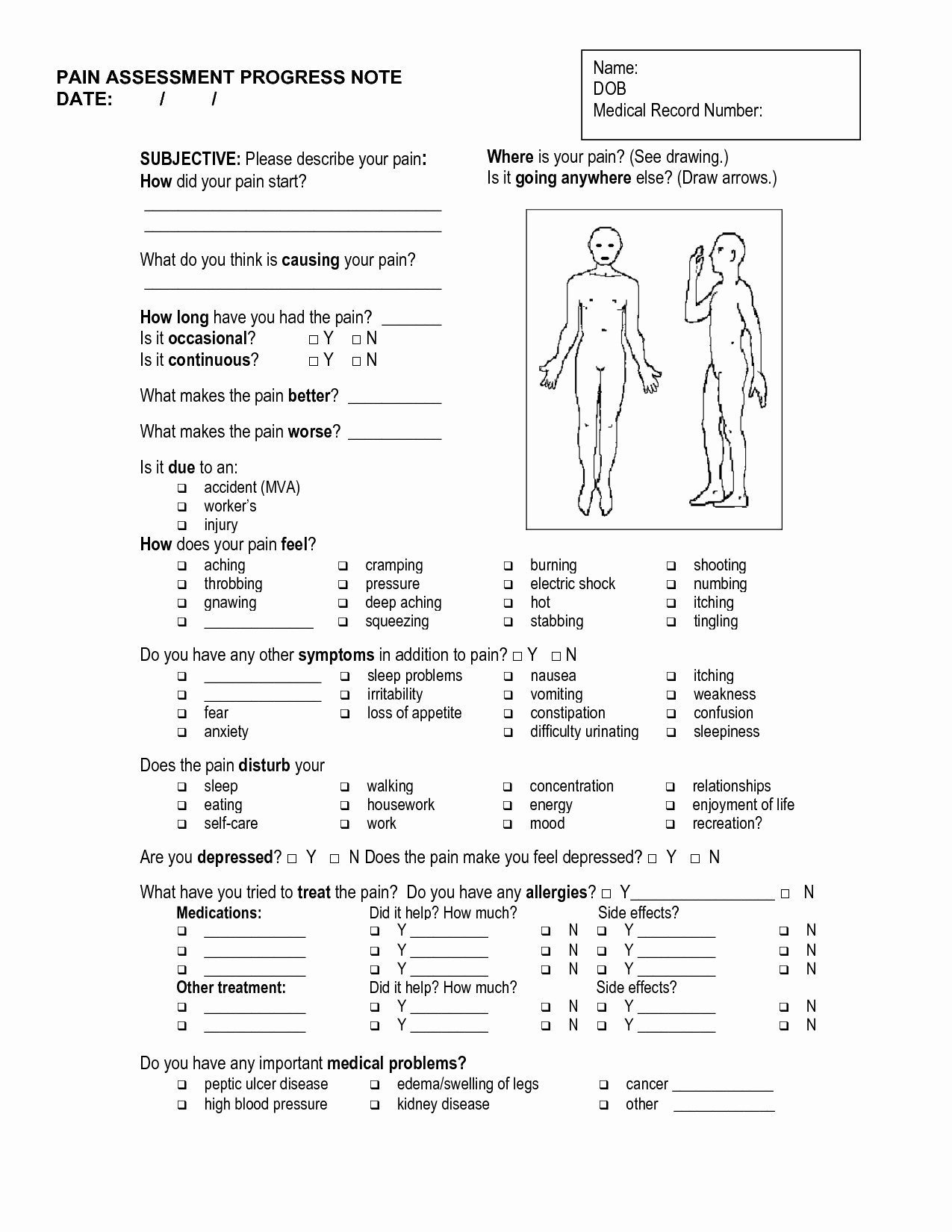 Acupuncture Intake form Template Inspirational Massage soap Notes Template