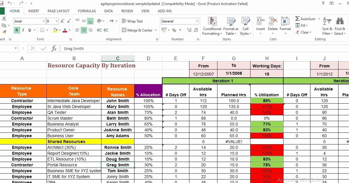 Agile Project Plan Template Excel Beautiful Agile Project Management Excel Template Engineering