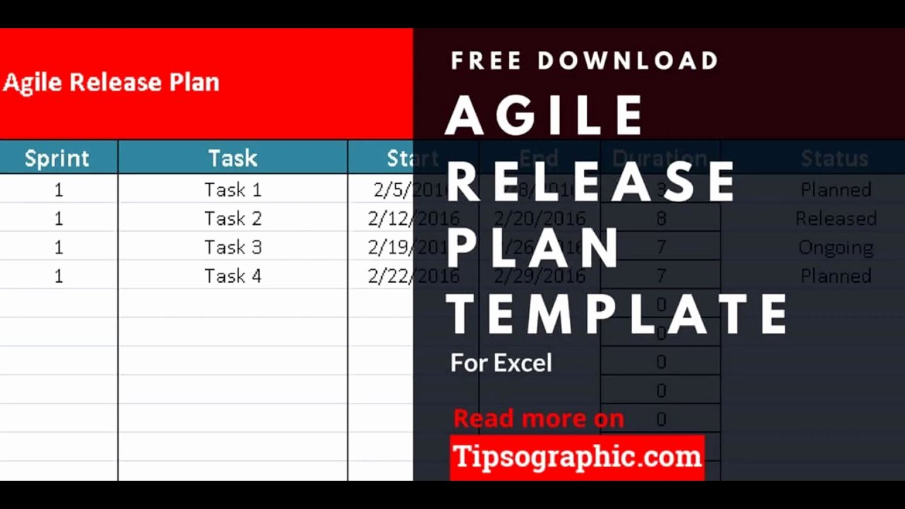 Agile Project Plan Template Excel Lovely Agile Release Plan Template for Excel Free Download