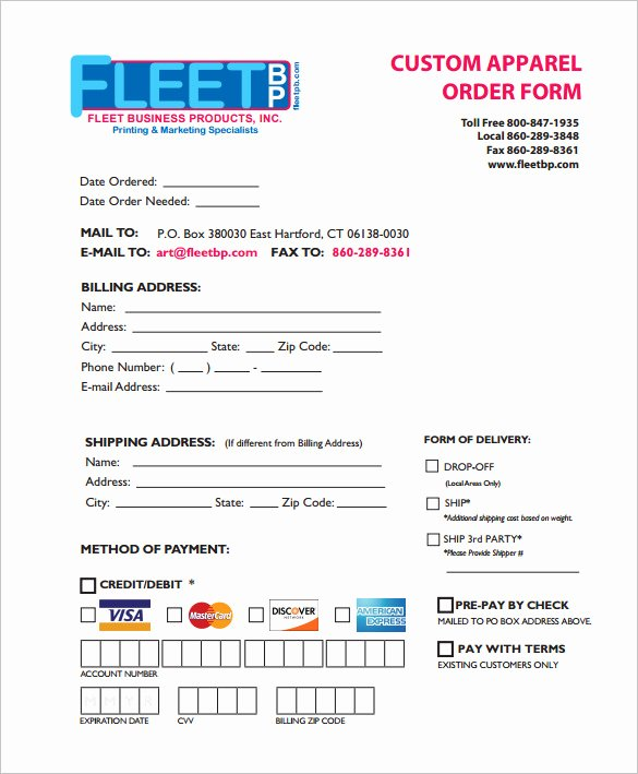 Apparel order form Template Free Best Of 29 order form Templates Pdf Doc Excel