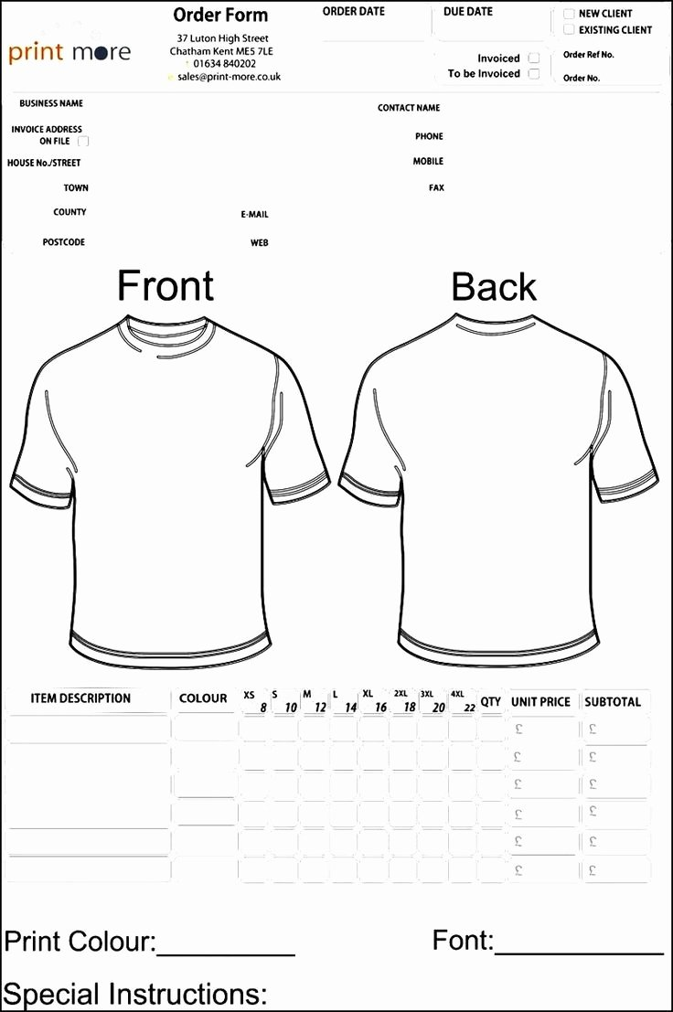 Apparel order form Template Free Lovely 48 Best Sample order Templates Images On Pinterest