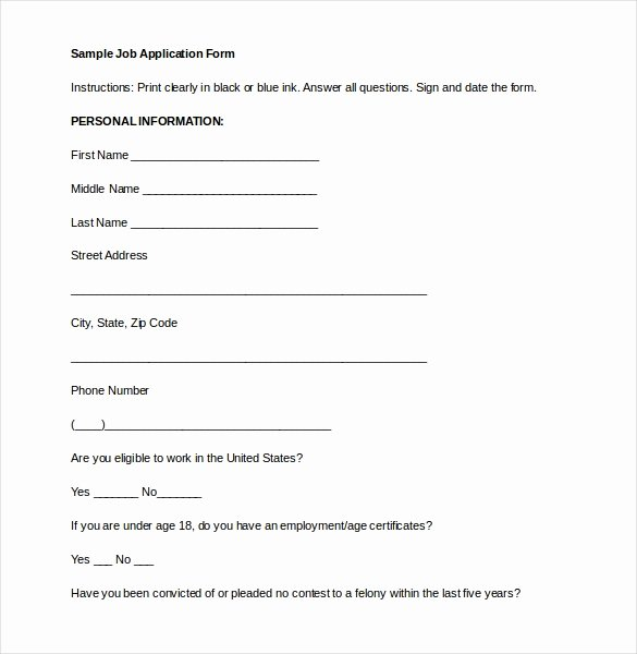 Application form Template Word Awesome Application form Template 18 Free Word Pdf Documents
