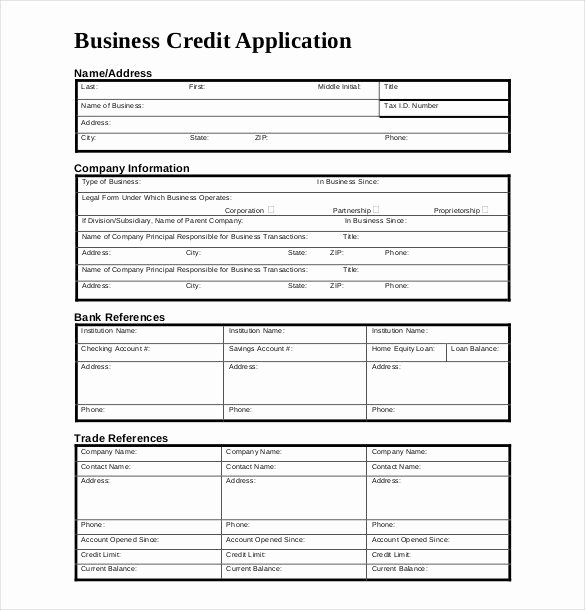 Application form Template Word Awesome Credit Application form Template Uk Carers Credit