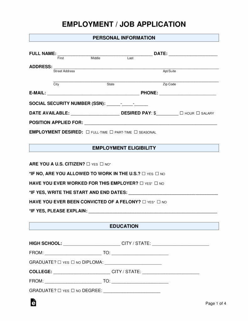 Application form Template Word Best Of Free Job Application form Standard Template Pdf