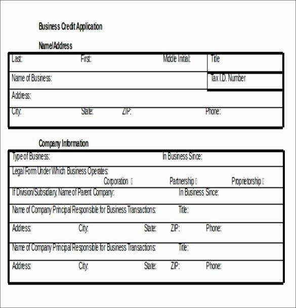 Application form Template Word Elegant Credit Application Template 33 Examples In Pdf Word