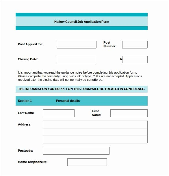 Application form Template Word Unique Application form Template 18 Free Word Pdf Documents
