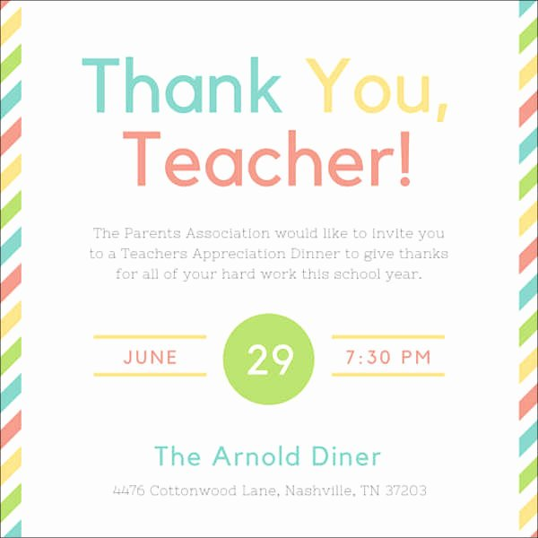 Appreciation Dinner Invitation Template Best Of 8 Appreciation Dinner Invitations Word Psd Ai