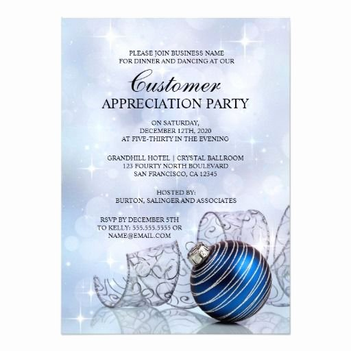 Appreciation Dinner Invitation Template Lovely Holiday Customer Appreciation Party Invitations