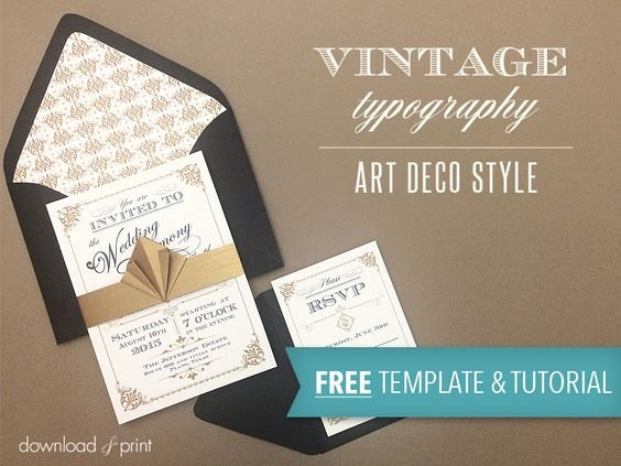 Art Deco Invitation Template Awesome Art Deco Wedding Invitation Templates and Wedding