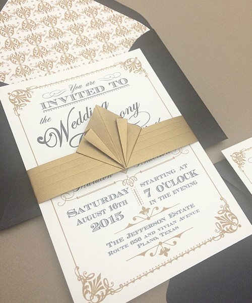 Art Deco Invitation Template Best Of Freebie ornate Vintage Art Deco Style – Download & Print