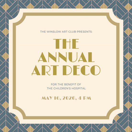 Art Deco Invitation Template Inspirational Customize 86 Art Deco Invitation Templates Online Canva
