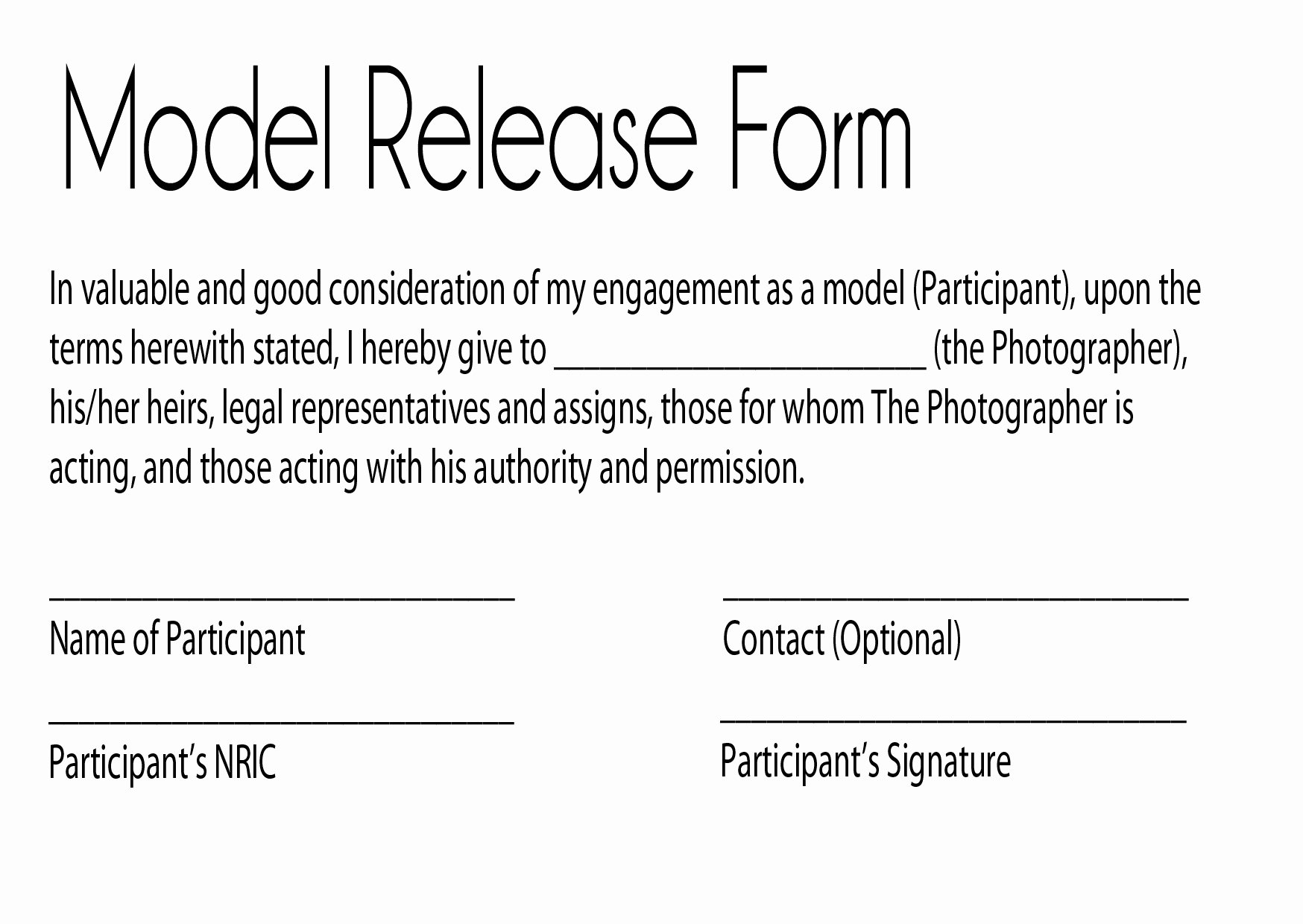 Artwork Release form Template Awesome Task1
