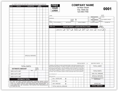 Auto Repair form Template Inspirational Auto Repair forms