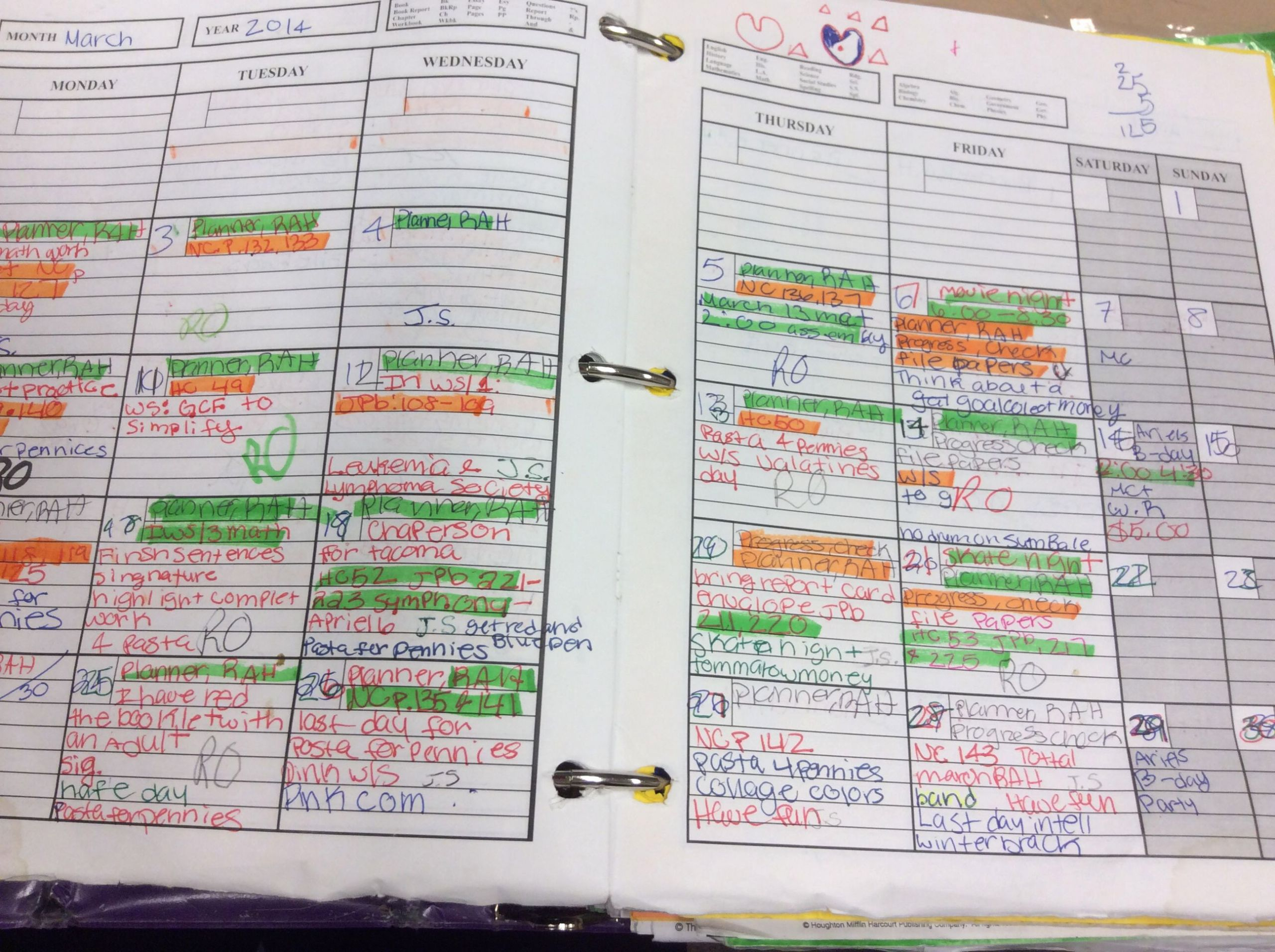 Avid Lesson Plan Template Elegant Student Planner Highlighting Strategy for What Needs to